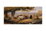 Milking in the Field, c1847 Giclee Print by Samuel Palmer