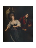 Mrs. Siddons and J. P. Kemble in the Dagger Scene from Macbeth, 1786 Giclee Print by Thomas Beach