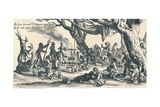 An Encampment of the First Gipsies in Central Europe, c1604, (1907) Giclee Print by Jacques Callot