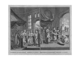 Marriage of Laplanders - Christening of Laplanders, 1726 Giclee Print by Claude Dubosc