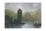 Tower of Niederlahnstein, 19th cenrury Giclee Print by Edward Goodall