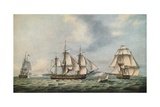 East India Companys Packet Swallow, 1788 Giclee Print by Thomas Luny