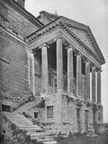 Detail of north front and portico, La Malcontenta, Mira, Veneto, Italy, 1922 Photographic Print