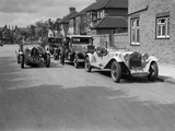 1930 Alfa-Romeo, Chrysler Coupe and Bugatti Type 43 2262cc Photographic Print by Bill Brunell