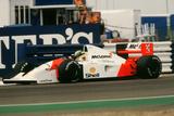 Ayrton Senna in the McLaren MP4-7 1992 British Grand Prix at Silverstone Photographic Print