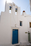 A Church in the Medieval Village of Kastro on the Island of Sifnos Fotografisk trykk av Krista Rossow