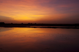 A Glowing Orange Sunset over Sambhar Salt Lake Photographic Print by Steve Winter