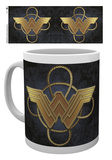 Wonder Woman - Gold Logo Mug Taza