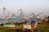 Fishing Nets in Fort Kochi, Kerala, India Photographic Print by Jill Schneider