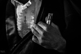 A Matador Clutches a Gift of a Cigar before Entering the Bullring in Leon, Mexico Photographic Print by Greg Davis