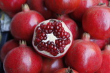 Close Up of Pomegranates for Sale at a Local Market in Mumbai Photographic Print by Jill Schneider