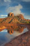 Mist Surrounds the Top of Cathedral Rock Photographic Print by Derek Von Briesen