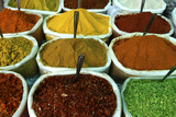 Variety of Spices for Sale at a Local Market in Goa Photographic Print by Jill Schneider