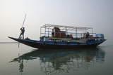 A River Ferry Traveling Through India's Sundarbans Region Photographic Print by Steve Winter