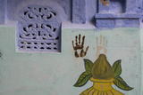 Handprints on a Wall in Jodhpur's Blue City Photographic Print by Steve Winter