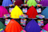 Colorful Dye for Sale at a Local Market in Fort Kochi Photographic Print by Jill Schneider
