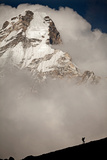 A Climber Walks Below the Southwest Ridge of Ama Dablam in the Khumbu Region of Nepal Photographic Print by Cory Richards