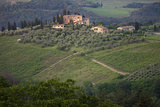 A View of the Surrounding Tuscan Countryside from San Gimignano, Italy Photographic Print by Scott Warren