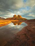 Cathedral Rock Is Reflected in Still Water Photographic Print by Derek Von Briesen