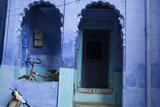 The Entrance to a Home in Jodhpur's Blue City Photographic Print by Steve Winter