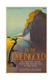 Deutsche Reichsbahn By the Rheingold. Europe, Germany, 1928 Giclee Print by Richard Friese