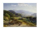 Landschaft mit Schmiede. 1855 - 56 Giclee Print by Johann Wilhelm Schirmer