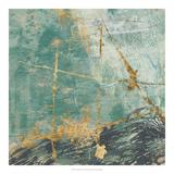 Teal Lace II Plakat af Jennifer Goldberger
