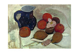 Still life with blue, white spotted jar (II). 1906 Giclee Print by Paula Modersohn-Becker