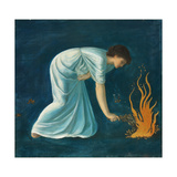 Hero war in der griechischen Mythologie eine Priesterin der Aphrodite in Sestos Giclee Print by Sir Edward Burne-Jones