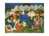 Little Garden of Paradise (Das Paradiesgärtlein) Giclee Print by  Upper Rhenish Master
