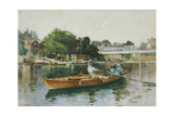 A Boating Party on the Thames at Cookham Giclee Print by Hector Caffieri