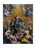 The Assumption of the Virgin. Ca. 1596 - 97 Giclee-trykk av Guido Reni
