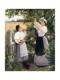 The Cherry Pickers. 1894 Giclee Print by Hermann Seeger