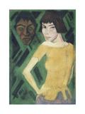 Maschka mit Maske. 1919 - 21 Giclee Print by Otto Mueller