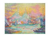 Goldenes Horn, Konstantinopel. La Corne d'Or, Constantinople. 1907 Giclee Print by Paul Signac