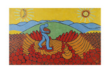 Blue Sowing Peasant. 1911 Giclee Print by Wilhelm Morgner