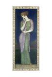 Helena. Tafelbild auf Holz mit einem Vers aus der Illias Giclee Print by Franz von Stuck