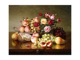 Fruit Still-life with Roses and Honeycomb. 1904 Giclee Print by Robert Spear Dunning