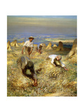 Das Binden der Garben. 1902 Giclee Print by Sir George Clausen