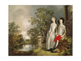 Heneage Lloyd and his Sister Giclee Print by Thomas Gainsborough