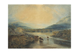 Abergavenny Bridge, Monmouthshire: Clearing Up After A Showery Day Giclee Print by Joseph Mallord William Turner