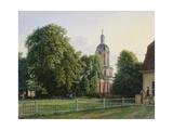 Kirche im Park von Schloß Buch Giclee Print by Johann Erdmann Hummel