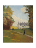 At the Castle Tanlay (Au Chateau de Tanlay). 1907 Giclee Print by Emile Bernard