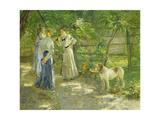 Die Töchter im Garten. 1906 Giclee Print by Fritz von Uhde