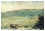 Landscape at Saint-Ouen Giclee Print by Georges Seurat