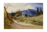 Sizilianische Landschaft bei Abendstimmung Giclee Print by Carl Blechen