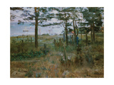 Graveyard for fishermen, Nida (Fischerfriedhof auf Nidden). 1893 Giclee Print by Lovis Corinth