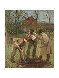 Ein Baum wird gepflanzt (Planting a Tree) Giclee Print by Sir George Clausen