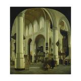Inneres der Alten Kirche in Delft. 1659 Giclee Print by Hendrik Cornelisz van Vliet