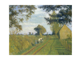 Weg (Timpen) in der Abendsonne. 1939 Gicléetryck av Otto Modersohn